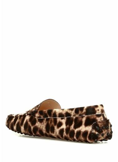 Tod's Deri Loafer Ayakkabı Leopar